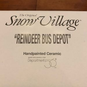 Snow Village Reindeer Bus Depot
